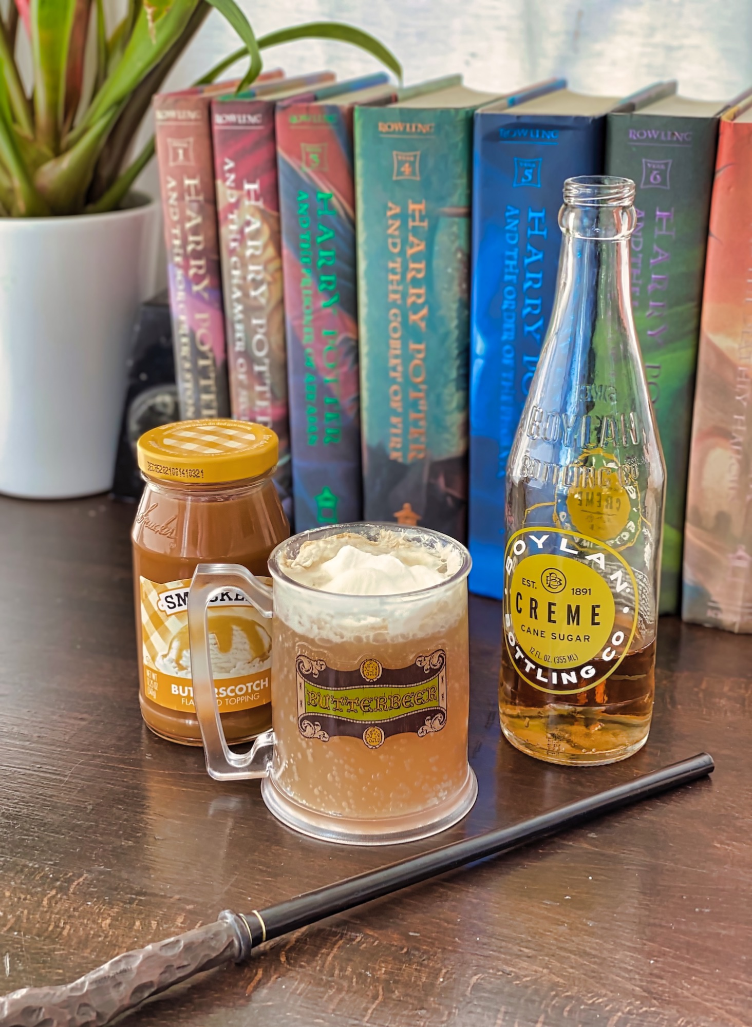Butterbeer Recipe Ingredients and Wand