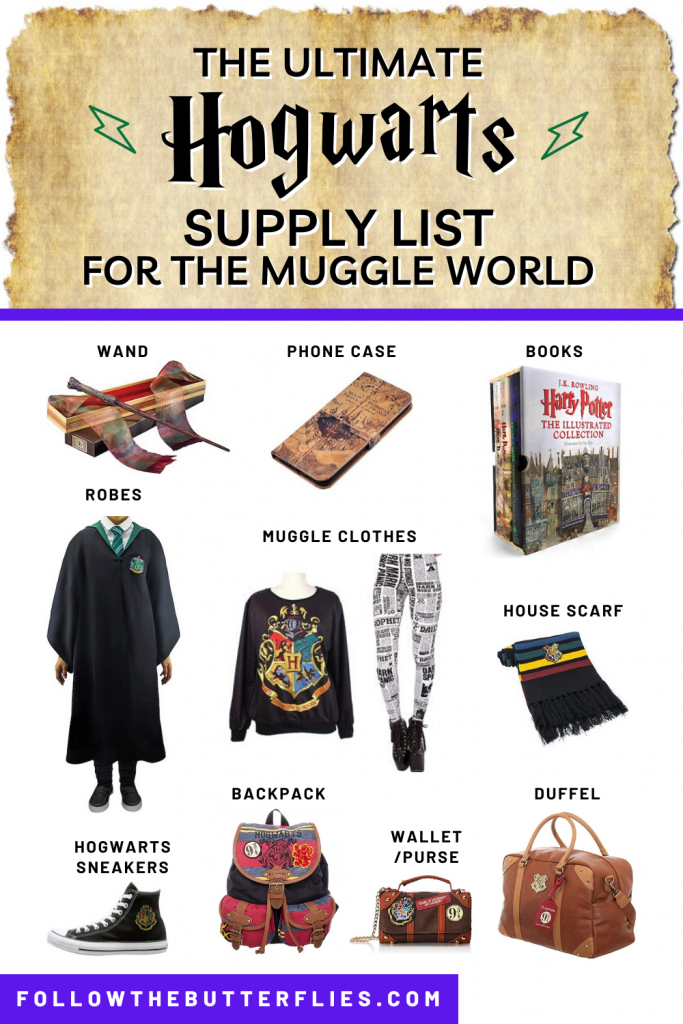 Hogwarts Supply List Pin 1