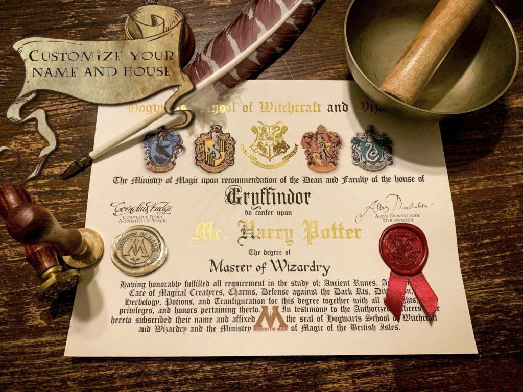Harry Potter Diploma